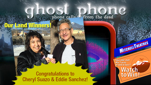 Ghost Phone Land Winners! Cheryl Suazo and Eddie Sanchez have won 5 acres of land in Taos!
