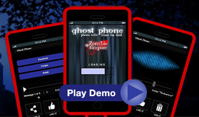 Ghost Phone: Phone Calls from the Dead phone app. Click to WATCH THE DEMO!
